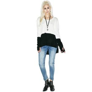 One Teaspoon Black Light Merino Knit Size XS NWT